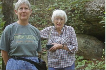 Leonette Slay and Ruth Wright enjoy hike at Ruffner Mountain.