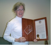 Virginia Randolph, LWVGB 2nd VP and Voter Service Chair, accepted JeffCo proclamation on Oct. 19, 2006.