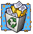 recycle trash can icon